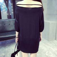 ISSDM定制 2015夏装新款宽松T恤女短袖简约纯色中长款修身打底衫