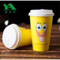 鑫永安直销现货【海绵宝宝】400ml-500ml奶茶杯咖啡杯,支持订做