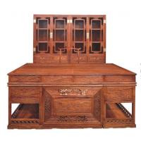 中山顶箱书柜,雕花办公台,书桌厂家,盛世艺木居古典中式刺猬紫檀家具批发