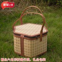 供应可折叠竹篮批发鸡蛋篮子粽子篮水果杨梅粽子礼盒竹篮包装