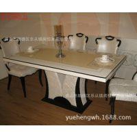 韩式大理石新款长条桌子简约时尚餐厅桌子欧式酒店餐桌家用餐桌子