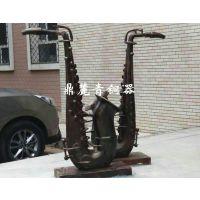 鼎麓青铜器古铜色铜雕塑现代艺术品萨克斯广场学校装饰摆件
