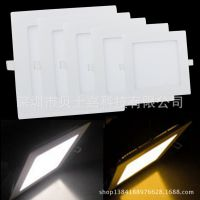 LED面板灯方形面板灯面板灯方形天花筒灯led超薄面板灯3W6W12W18W