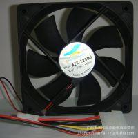 厂家直销12025散热机箱电源 两个大4PIN黑色12厘米散热风扇