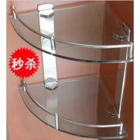 玻璃角架 双层不锈钢 转角玻璃角架 单层挂件置物架浴室 三角架
