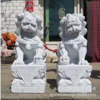 厂家直销大理石石雕狮子 石头狮子 动物雕刻狮子雕塑曲阳直销
