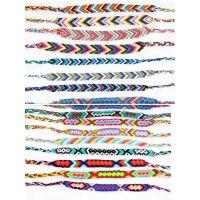 纯手工编织手链 尼泊尔民族风 友谊手链百搭风格 diy饰品线材