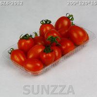 超市生鲜托盘果蔬盘 PET环保蔬菜托盘 一次性长方碟1500个批发