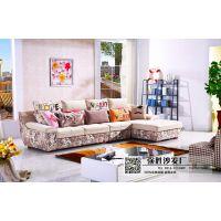 香河强胜沙发 客厅简约组合布艺转角沙发 批发进货 代理加盟
