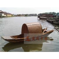 农用小渔船 加舱板木船 手划捕鱼木质实用渔船 便捷小船