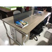 职员办公桌4人位南京办公家具简约现代工作位员工桌屏风办公桌椅