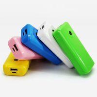 PLUFY通用型手机移动电源炫彩迷你充电宝外置充电器电池5200mAh