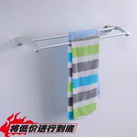 新款上市毛巾杆 浴室挂件毛巾杆 全铝合金毛巾双杆 卫浴挂件