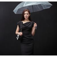韩国进口服装 纯色高档名媛连衣裙 时尚气质包臀女式女裙直邮批发