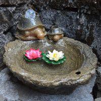 陶瓷喷泉流水加湿 风水轮家居办公鱼缸摆件 创意家居装饰开业礼品
