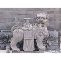 狮子青灰色 拼花青瓦铺地装饰立瓦瓦片批发