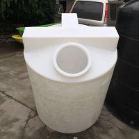 黑河市500L锥底加药箱 pe塑料带铁架搅拌桶质量