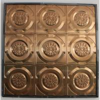 商场背景墙用古铜色不锈钢扣板 吊顶装饰镜面压花板 不锈钢天花