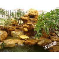 青岛专业设计制作施工黄蜡石假山批发销售各种假山石