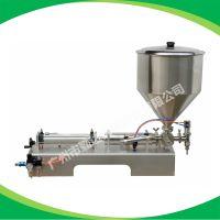 供应Qinda 可调气动半自动膏体酱料灌装机 卧式膏体灌装机
