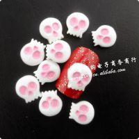 日系可爱美甲饰品树脂骷髅头光疗假指甲贴花美甲用品 美甲树脂花