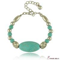 B1339外贸原单绿松石串珠手链 多元素风格混批 大牌手链