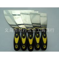 供应双色柄油灰刀、红/黑、黄/黑塑柄铲刀、新款抹泥刀