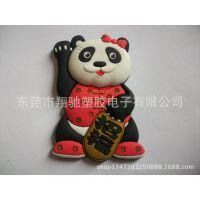厂家直销环保PVC软胶滴胶冰箱贴 熊猫公仔软磁冰箱贴 可来图定制