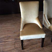 新古典餐椅布艺椅子实木椅子简约欧式扶手椅餐厅餐桌椅酒店皮艺椅