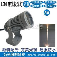 LED小圆头投光灯 聚光式户外广告背景墙照射灯 led远程投射灯 江门为光照明