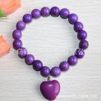 [意贝]高贵典雅紫色松石珠宝手链 澳大利亚流行外贸款 速卖通货源