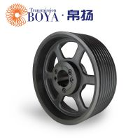 河南禹州皮带轮采购spz180-08选无锡帛扬锥套皮带轮厂家