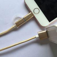 elice尼龙 苹果5s iPhone6数据线高速通用安卓手机二合一拖快充电器6s