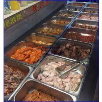 卧式敞开烧烤店菜品柜 自助烤肉展示保鲜柜 邢台定做不锈钢小菜柜价格