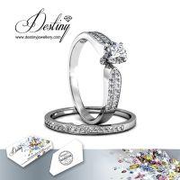 戴思妮 水晶戒指 采用施华洛世奇元素 时尚精美女士饰品 厂家直销