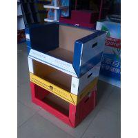 生产定制山姆店/沃尔玛等超市用纸质可堆叠箱/展示盒/陈列架