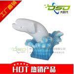 主题儿童乐园淘气堡装饰产品 海洋海豚造型 色彩亮丽造型逼真