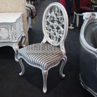 欧式餐厅餐椅 餐桌椅组合 售楼处家具 布艺餐椅 椅子 别墅休闲椅