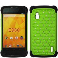 厂家批发 LG点钻手机保护套  e960满天星三合一手机壳