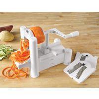 多功能三合一手摇旋转推进式切菜器碎菜器彩盒装