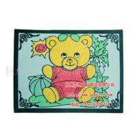 【厂家热销】供应7寸彩泥画卡纸 新款彩泥画大中小套装 图案精美