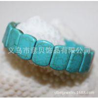 [意贝]天然蓝绿松石手链批发 2014年新款欧美饰品套装 速卖通货源