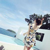 【YESWOMEN】小宜定制春夏女装新款 大碎花吊带印花连衣裙