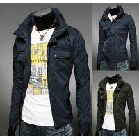 外贸批发一件代购欧美男装 EBAY速卖通 男士修身立领防水夹克外套