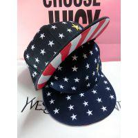 亲子帽KIMI同款五角星图案刺绣平沿帽 韩版街舞嘻哈棒球帽子批发