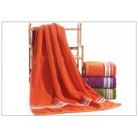 梅州市批发70*140cm加厚全棉浴巾沙滩巾专业定做logo