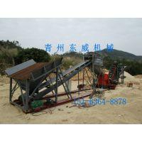 福建山砂破碎洗砂机 东威机械专业定制的筛、破、洗山砂洗沙机生产线