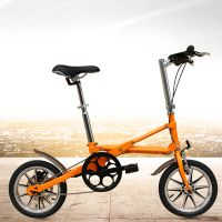 工厂直销14寸迷你自行车代步车都市螳螂CMS一秒折叠自行车
