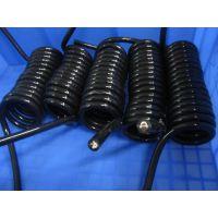 17芯螺旋线弹簧线厂家直销PU外皮亮面雾面拉开3米4米5米6米