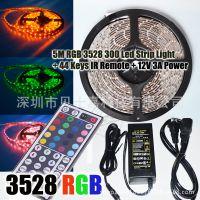 3528 60LEDS/ M防水软灯条+44键红外线遥控器+12V 3A电源适配器